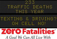 Message Monday - Sept. 21, 2015 - Texting & Driving? Oh Cell No!