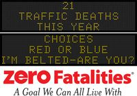 Message Monday - Feb. 1, 2016 - Choices: Red or Blue? I'm belted, are you?