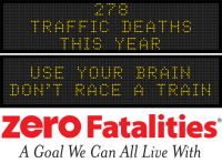 Message Monday - Use your brain, don't race a train