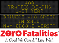 Message Monday - Drivers who speed in snow may become adrift