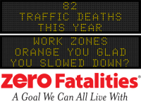 Message Monday - Work zones, orange you glad you slowed down?