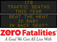 Message Monday - Beat the heat - is baby in the back seat?