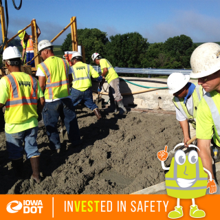 Work zone safety awareness photo frame