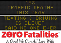 Message Monday - July 27, 2015 - Texting and driving is clever, said NO ONE EVER