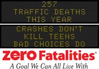 Message Monday - Oct. 19, 2015 - Crashes don't kill teens - bad choices do
