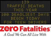 Message Monday - May 30, 2016 - 100 deadliest days begin today for teen drivers