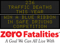 Message Monday - Win a blue ribbon in safe driving competition