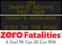 Message Monday - Today's homework? Eyes on the road