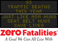 Message Monday - Just like mom hugs, seat belt hugs save lives