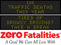 Message Monday - Tired of drowsy driving? Take a break