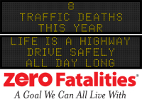 Message Monday - Life is a highway - drive safely all day long