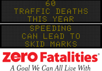 Message Monday - Speeding can lead to skid marks