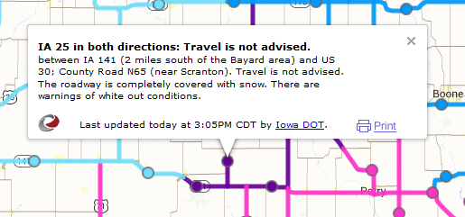New Road conditions 10-14-14