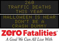 Message Monday - Oct. 26, 2015 - Halloween is near - don't be a crash dummy