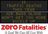 Message Monday - Jan. 25, 2016 - Air bags alone won't get you home - buckle up