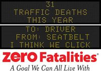 Message Monday for Feb. 15, 2016 - To: Driver    From: Seat belt   -    I think we click