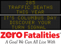 Message Monday - It's Columbus Day. Discover your turn signal.