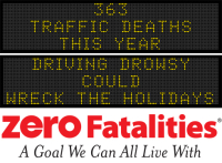 Message Monday - Driving Drowsy Could Wreck the Holidays