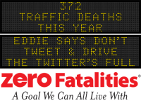 Message Monday - Eddie says don't tweet and drive. The Twitter's full.