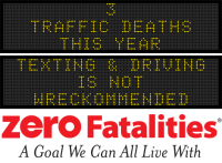 Message Monday - Texting and driving is not wreckommended