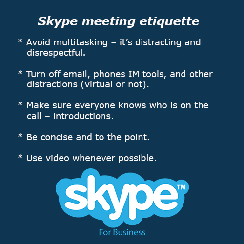 Skype meeting etiquette