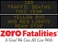 Message Monday - Yellow bus and red lights mean stop