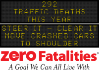 Message Monday - Steer it, clear it - Move crashed cars to shoulder