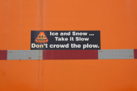 Safe travel around snowplows