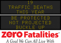 Message Monday  - Be protected, not projected. Buckle up