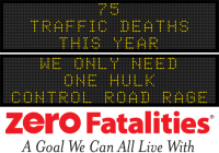 Message Monday - We only need one Hulk - control road rage