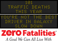 Message Monday - You're not the best driver in the galaxy. Slow down