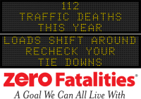 Message Monday - Loads shift around. Recheck your tie downs