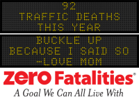 Message Monday - Buckle up because I said so - Love Mom