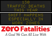 Message Monday - Shift happens - especially in work zones