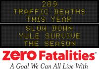 Message Monday - Slow down. Yule survive the season