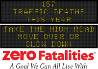 Message Monday - Take the high road. Move over or slow down
