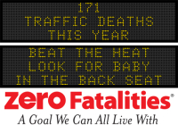 Message Monday - Beat the heat - look for baby in the back seat