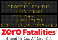 Message Monday - You are not a pumpkin. Don't drive smashed