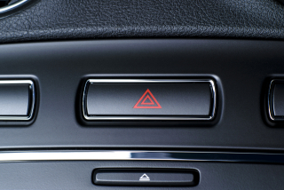 Hazard light button