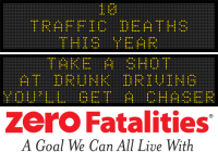 Message Monday - Take a shot at drunk driving, you'll get a chaser