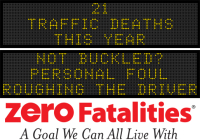 Message Monday - Not buckled? Personal foul, roughing the driver
