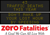 Message Monday: Don't make up your lost hour by speeding