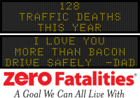 Message Monday - I love you more than bacon. Drive Safely- Dad