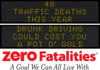 Message Monday: Drunk driving could cost you a pot o' gold