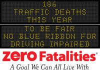 Message Monday -  To be fair, no blue ribbon for driving impaired