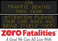 Message Monday - Attention please: your car does not drive itself - yet
