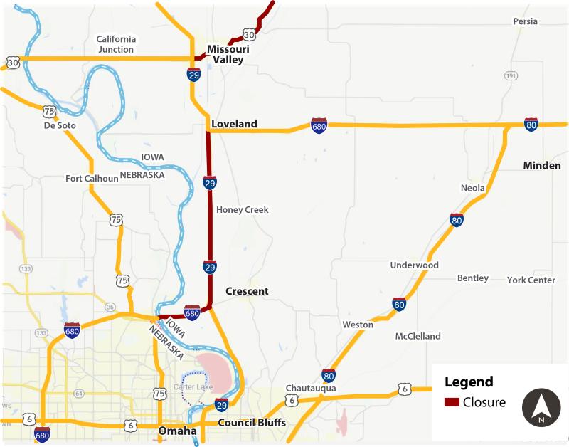 Spring 2019 Flood Map_Western Iowa