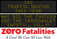 Message Monday - Why did the chicken use the crosswalk? Safety ... silly!