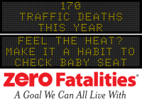 Message Monday - Feel the heat? Make it a habit to check baby seat