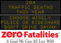 Message Monday - Choose wisely- police or rideshare - don't drive drunk